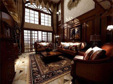 清江山水美式复式三居室